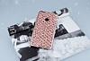 Huawei P9 Lite 2017 Simli Kumaş Rose Gold Silikon Kılıf - Resim 1