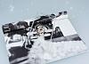 Huawei P9 Lite Taşlı Love Şeffaf Silikon Kılıf - Resim 1