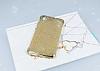 Huawei Y6 ii Simli Gold Silikon Kılıf - Resim 1