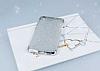 Huawei Y6 ii Simli Silver Silikon Kılıf - Resim 1
