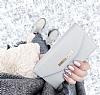 iDeal of Sweden Myfair Clutch iPhone X Light Grey Kılıf - Resim 1