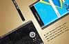 IMAK Blackberry Priv Siyah Deri Rubber Kılıf - Resim 4