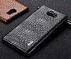 IMAK Blackberry Priv Siyah Deri Rubber Kılıf - Resim 2