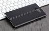 IMAK BlackBerry Priv Siyah Lux Deri Kılıf - Resim 4