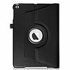 iPad 9.7 2017 360 Derece Döner Standlı Siyah Deri Kılıf - Resim 6