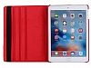iPad 9.7 2017 360 Derece Döner Standlı Kırmızı Deri Kılıf - Resim 6