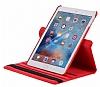 iPad 9.7 2017 360 Derece Döner Standlı Kırmızı Deri Kılıf - Resim 5