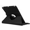 iPad 9.7 2017 360 Derece Döner Standlı Siyah Deri Kılıf - Resim 1