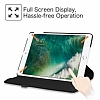 iPad 9.7 2017 360 Derece Döner Standlı Siyah Deri Kılıf - Resim 4