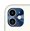 iPhone 11 Mavi Metal Kamera Lensi Koruyucu
