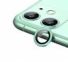 iPhone 11 Metal Kenarlı Cam Yeşil Kamera Lensi Koruyucu