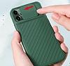 iPhone 11 Pro Kaydırmalı Kamera Korumalı Mor Silikon Kılıf - Resim 2