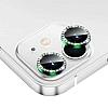 iPhone 12 6.1 inç Crystal Taşlı Yeşil Kamera Lensi Koruyucu