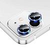 iPhone 12 6.1 inç Mavi Crystal Taşlı Kamera Lensi Koruyucu
