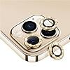 iPhone 12 Pro 6.1 inç Gold Taşlı Kamera Lens Koruyucu