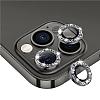 iPhone 12 Pro 6.1 inç Siyah Taşlı Kamera Lens Koruyucu