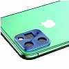 iPhone 11 Pro Mavi Metal Kamera Lensi Koruyucu