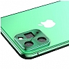 iPhone 11 Pro Yeşil Metal Kamera Lensi Koruyucu