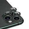 iPhone 11 Pro Metal Kenarlı Cam Yeşil Kamera Lensi Koruyucu