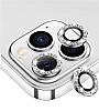 iPhone 11 Pro Max Silver Taşlı Kamera Lens Koruyucu