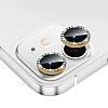 iPhone 12 Mini 5.4 inç Crystal Taşlı Gold Kamera Lensi Koruyucu
