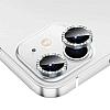 iPhone 12 Mini 5.4 inç Crystal Taşlı Silver Kamera Lensi Koruyucu