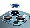 iPhone 12 Pro 6.1 inç Crystal Taşlı Silver Kamera Lensi Koruyucu