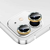 iPhone 11 Crystal Taşlı Gold Kamera Lensi Koruyucu