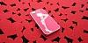 iPhone SE / 5 / 5S Lady G Sert Parlak Kırmızı Rubber Kılıf - Resim 3