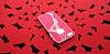 iPhone SE / 5 / 5S Lady G Sert Parlak Kırmızı Rubber Kılıf - Resim 2