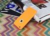 iPhone 6 / 6S 360 Derece Koruma Likit Turuncu Silikon Kılıf - Resim 2