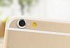 iPhone 6 / 6S Silver Kamera Lensi Koruyucu - Resim 1