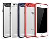 Eiroo Cam Hybrid iPhone 6 / 6S Kamera Korumalı Lacivert Kenarlı Rubber Kılıf - Resim 1