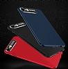 Dafoni Shade iPhone 6 / 6S Kamera Korumalı Kırmızı Rubber Kılıf - Resim 1