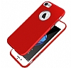 iPhone 6 / 6S Metal Kamera Korumalı Kırmızı Silikon Kılıf - Resim 2