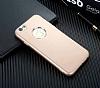 iPhone 6 / 6S Metal Kamera Korumalı Gold Silikon Kılıf - Resim 2