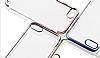 iPhone 6 / 6S Silver Çerçeveli Şeffaf Silikon Kılıf - Resim 5