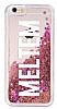 iPhone 6 / 6S Kişiye Özel Simli Sulu Rose Gold Rubber Kılıf - Resim 3