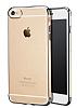 iPhone 6 Plus / 6S Plus Gold Çerçeveli Şeffaf Silikon Kılıf - Resim 7