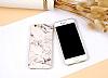 iPhone 6 Plus / 6S Plus Granit Görünümlü Beyaz Silikon Kılıf - Resim 4