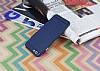 iPhone 6 Plus / 6S Plus Metal Tuşlu Mat Lacivert Silikon Kılıf - Resim 2