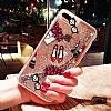 iPhone 6 Plus / 6S Plus Simli Sulu Fashion Kırmızı Silikon Kılıf - Resim 1