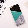 iPhone 6 Plus / 6S Plus Granit Görünümlü Yeşil Silikon Kılıf - Resim 3