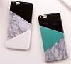 iPhone 6 Plus / 6S Plus Granit Görünümlü Yeşil Silikon Kılıf - Resim 1