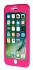 iPhone 7 360 Derece Koruma Likit Pembe Silikon Kılıf - Resim 3