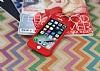 iPhone 7 360 Derece Koruma Likit Kırmızı Silikon Kılıf - Resim 1