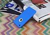 iPhone 7 360 Derece Koruma Likit Mavi Silikon Kılıf - Resim 1