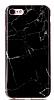 iPhone 7 / 8 Granit Görünümlü Siyah Silikon Kılıf - Resim 3