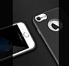 iPhone 7 Metal Kamera Korumalı Siyah Silikon Kılıf - Resim 1