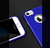 iPhone 7 Metal Kamera Korumalı Lacivert Silikon Kılıf - Resim 3